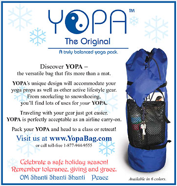 YOPA Ads - a crossover yoga Pilates sports back pack.