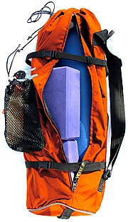 Orange YOPA yoga backpack,  sports backpack,  cross over backpack.