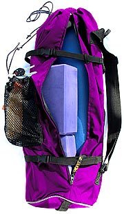 Purple YOPA yoga backpack,  sports backpack,  crossover  backpack.