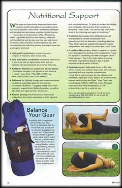 YOPA in Fit Yoga Magazine, August 2005 - Pilates backpack.