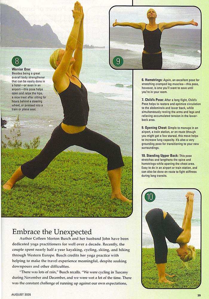 YOPA in Fit Yoga Magazine, August 2005 - yoga back pack.