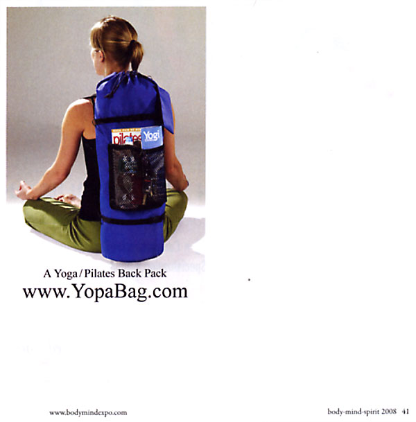 Body Mind Spirit Conference Catalogue, April 23-27, 2008 - yoga utility backpack.