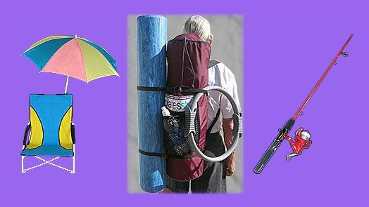 Yoga backpack  works for beach / swim equipment, fishing equipment.
